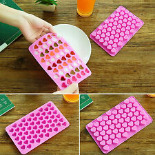 Mini 55hole Heart Shape Silicone Mold For Candy Chocolate Cake Mould Baking DIYS