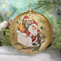 SNOWMAN WITH PLAYFUL PETS DOG CAT OLD WORLD CHRISTMAS GLASS ORNAMENT NWT 24202