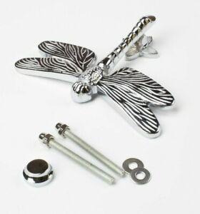 New Bright Chrome Dragonfly Door Knocker Front Door Furniture - 12cm x 16cm