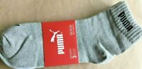 PUMA SOCKS BLACK / WHITE / GREY NEW  3 PACK SIZE 9 -11  **FAST DISPATCH**