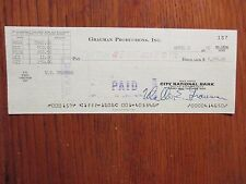 """WALTER  E.  GRAUMAN (""""Murder, She Wrote-""""director) Signed 1976  Cancelled  Check"""