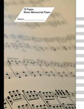 Music Manuscript Paper (Staff Paper) 70 Pages, 12 Staves Note Cover