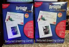 Lot Of 2 30 Total Burlington Greeting Cards Half Fold With Envelopes New