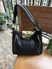 Classic Black  Brown Soft Leather Shoulder Bag Handbag Purse Satchel Vintage