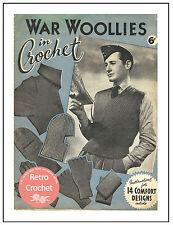 1940's War Woollies in Crochet - Vintage Pattern Copy