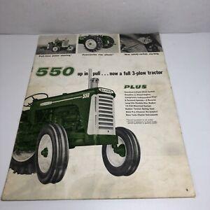 Tractor 1962 Oliver 550 3 Plow Power Tractor Sales Brochure (READ)