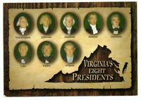 Vintage Postcard Virginia Eight Presidents