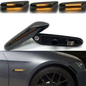 Dynamic Smoke LED Side Marker Turn Signal Light Fits BMW E90 E83 E92 E82 E46 E60