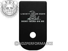 for Glock 43 G43 Textured Floor Base Magazine Mag Plate Blk Don't Tread on Me Ld