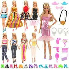 Barbie 15 Items = 5 Sets Fashion Casual  with 10 Pair Shoes  Gift Pack kids Play