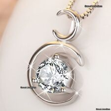 GIFTS FOR HER Silver Diamond Necklace Love Xmas Wife Daughter Sister Mum Women