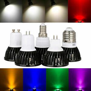 Multicolour Dimmable GU10 E27 GU5.3 MR16 LED Spotlight Bulb E14 B15 Bright Lamps