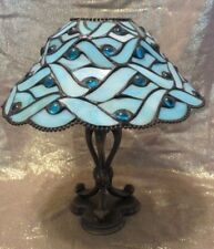 PARTYLITE~ SPRING WATER CANDLE LAMP~TIFFANY STYLE STAINED GLASS SHADE~ P7952