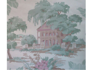 out-of-print WALLPAPER Gone With the Wind style Southern Mansions  last 3+ rolls