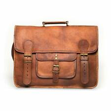 Genuine Vintage tourist Leather Messenger Business Laptop Briefcase Satchel Bag