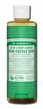 Dr Bronner's 18-In-1 Hemp Pure Castile Soaps made with Organic Oils 8 Fl Oz