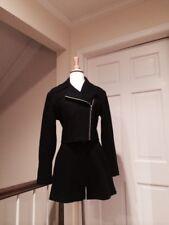 Armani Exchange Navy Wool Blend Moto Jacket, Shorts & Miniskirt Size Small / 6