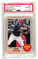 2017 Topps Heritage Minors #52 Juan Soto rookie RC card PSA 10 Nationals