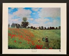 "Claude Monet 1979 Lithograph Poster ""The Corn Poppies"" 29""x23"""