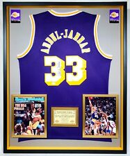 ca942729902 Premium Framed Kareem Abdul-Jabbar Signed Los Angeles Lakers Adidas Jersey  _ JSA