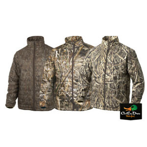 DRAKE WATERFOWL SYSTEMS MST CAMO SYNTHETIC DOWN PACKABLE JACKET FULL ZIP COAT