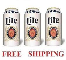 Miller Lite Throwback 3 Beer Can Coolers Koozie Coolie 16oz Huggie Coozie New