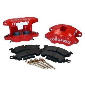 Wilwood 140-11290-R D52 BRAKE CALIPER & PAD SET W/PINS,RED,BIG GM CALIPERS,PADS