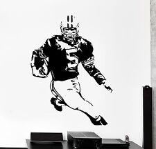 Wall Decal Football Player Quarterback Super Bowl Sport Decor z4001