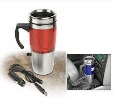 Auto Heated Travel Coffee Tea Mug Cup 12V and USB. (Red)