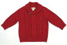 Cherokee Red Sweater Boys Size 3-6 months Cable knit Holiday Sweater Valentines