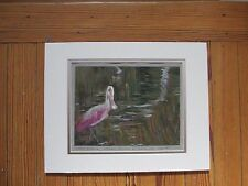 "Original Signed Roger Brown Pastel/Paper ""Roseate Spoonbill at BayBreeze"" 2014"