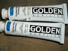 Golden Acrylics 2-ounce 2 tubes Paint Cerulean Blue Chromium