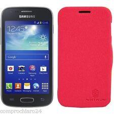 Custodia Rossa Portafoglio per Samsung Galaxy Ace 3 S7270 - FLIP Cover