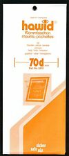 Hawid Stamp Mounts Size 70/210 CLEAR Background Pack of 10