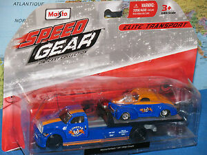 MAISTO SPEED GEAR LONSTAR WRECKERS MAISTO FLATBED / 1941 WILLYS COUPE NEW & RARE