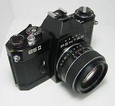 Cámara SLR Vintage Asahi Pentax Es Ii 35mm + SMC Takumar 1:1 .4/50 Lente: en muy buena condición +