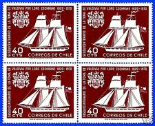 CHILE, MOCTEZUMA SAILBOAT BLOCK OF FOUR, YEAR 1970