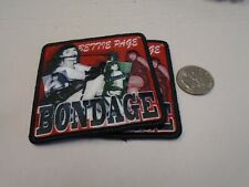 Bettie Page Bondages Sex Symbol Pin Up Girl IRON ON EMBROIDERED PATCH NEW
