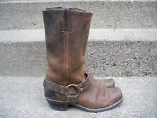 Frye 77300 Harness 12 R Brown Leather Women's Motorcycle Engineer Boots Size 8.5