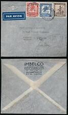 BELGIAN CONGO 1945 PRINTED ENVELOPE IMBELCO AIRMAIL UNSEALED FLAP