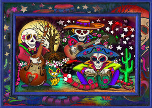 500 Pcs Puzzle Day of the Dead Skulls Party Jigsaw Adult Kid DIY Educational Toy