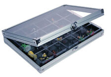 Safe Sammel-Vitrine Alu Compact 20 Fächer 36x49mm, Maße295x203x40 mm (5617)