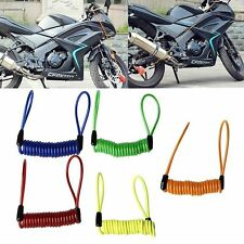 Motorcycle Bike Scooter Alarm Disc Lock Security Spring Reminder Strong Cable