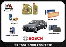 Kit tagliando Audi A4 B8 8k 2.0 tdi filtri Bosch 5 lt olio Castrol edge fst 5w30