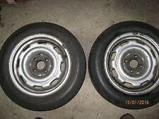 2 Stück VW Stahl Felgen ET45 6x14  mit Reifen Räder 185/60 14 Zoll von VW Golf