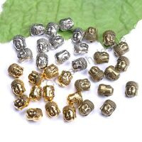 Tibetan Silver Gold Bronze Metal Buddha Head DIY Bracelets Loose Beads 10 pcs