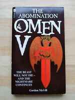 OMEN V THE ABOMINATION BY GORDON McGILL FUTURA 1985 FIRST
