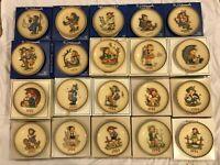 Hummel plates 1972-1991 with original boxes