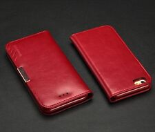"""UK KLD Royale II Genuine Calf Leather Wallet Case Cover Stand for Various PHONES for iPhone 6 6s 4.7"""" Apple Red"""