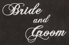 Scrapbooking words- Bride and Groom - silver